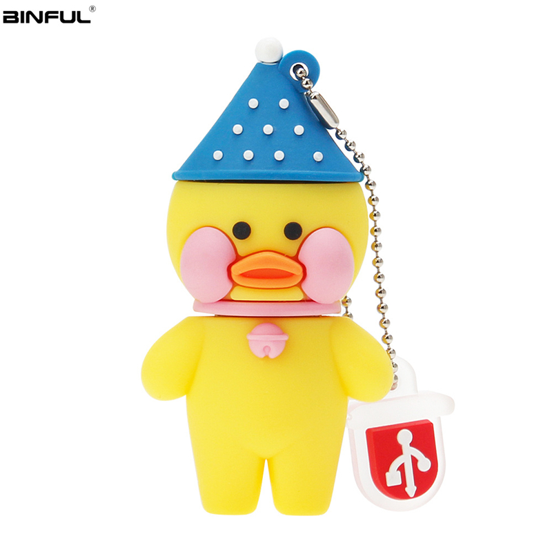 Image 4 - Pen Drive 128GB 64GB 32GB Usb Flash Drive Cute Cartoon Hyaluronic Acid Duck Flash Memory Stick Usb 2.0 High Quality Thumbdrives-in USB Flash Drives from Computer & Office