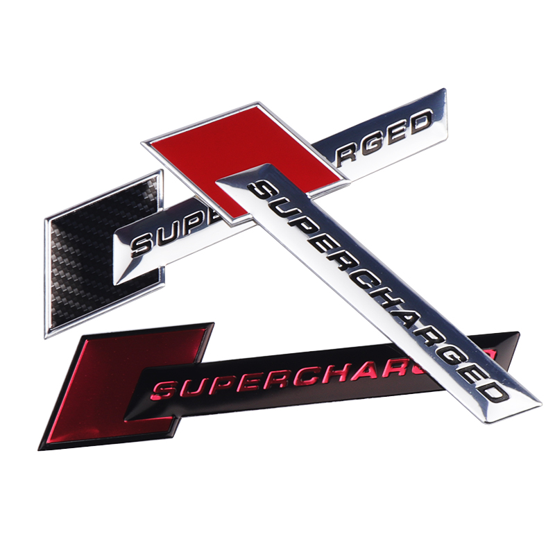 Aluminum 3D Metal SUPERCHARGED Car Sticker Emblem Badge For Audi A3 A4 A5 A6 Q3 Q5 Q7 S4 S6 Jeep BMW Ford Volvo Nissan Mazda Kia in Car Stickers from Automobiles Motorcycles