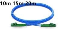 10 m 15 m 20 m LC APC à LC APC Duplex monomode blindé PVC (OFNR) câble de raccordement, cavalier de câble