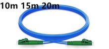 Buy 10m 15m 20m LC APC to LC APC Duplex Single Mode Armored PVC (OFNR) Patch Cable, Cable Jumper directly from merchant!