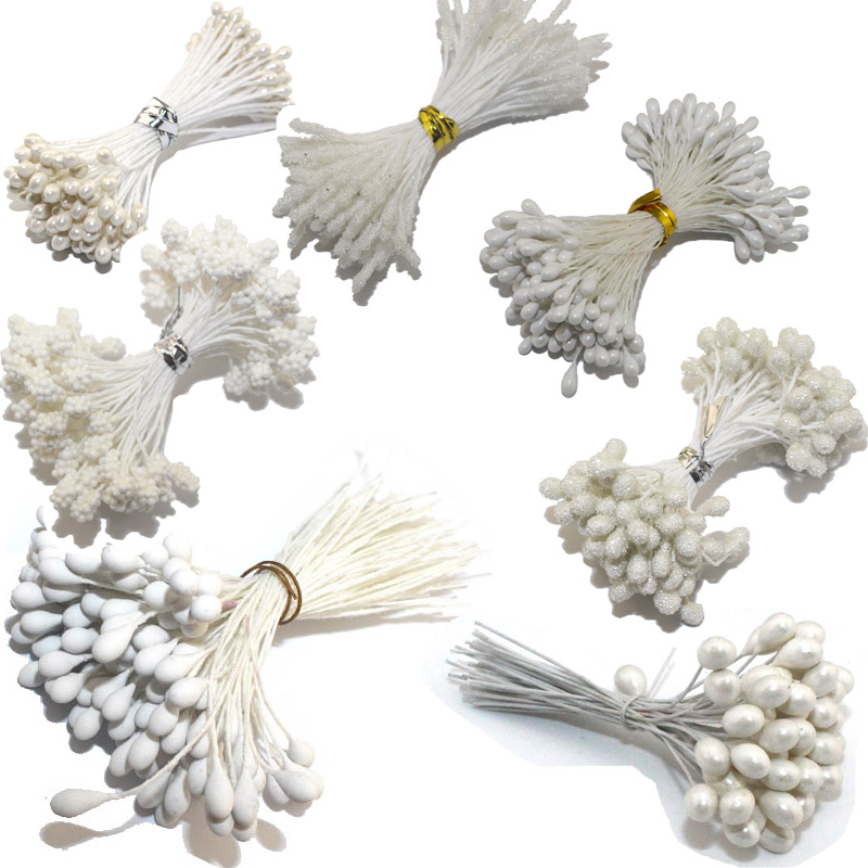 CCINEE White Color Rose Stamen 1mm/3mm/5mm For Cake Flower
