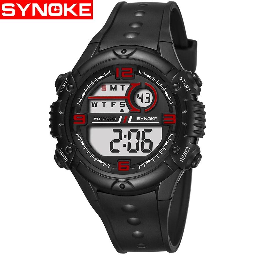 In Synoke Männer Sport Uhr Led Digital Uhren 50 M Wasserdichte Armbanduhr G Stil Casual Schock Männlichen Uhr Relogios Masculino Mann Ausgezeichnete QualitäT