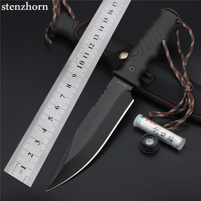 цены Stenzhorn 2017 Outdoor Self-defense Field High Hardness Saber Wilderness Survival Fruit Knife Straight Cutting Tool for Sharp