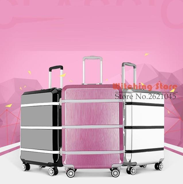 20 INCH 20242629# An upgraded version the latest fashion in trolley luggage aluminum frame password box # FREE SHIPPING