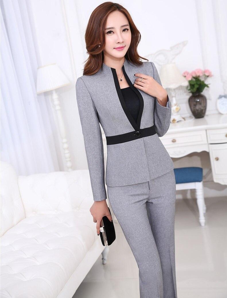 Online Get Cheap Womens Grey Trouser Suits -Aliexpress.com ...