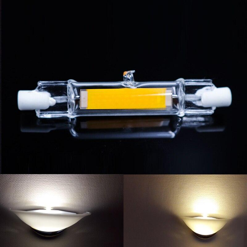 J118 AC V Led 78mm 118mm R7S lámpara 220 COB regulable J78 TlK1cF3J