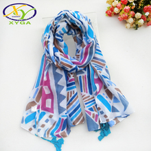 New Colorful Women Scarf Tassels Thin Ladys Summer Shawl Long Fashion Print Hijab Luxury Brand Casual Scarves