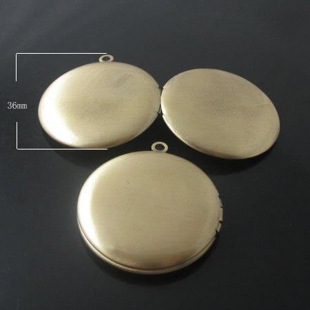 Товара, Латунный Медальон Фото Подвеска, 32 мм, анти-латунь цвет, ID18865