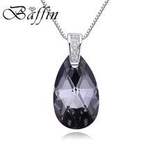 BAFFIN оригинальные кристаллы от Swarovski Elements подвеска в виде капли воды ожерелье Серебряная цепочка для женщин классические ювелирные изделия подарки