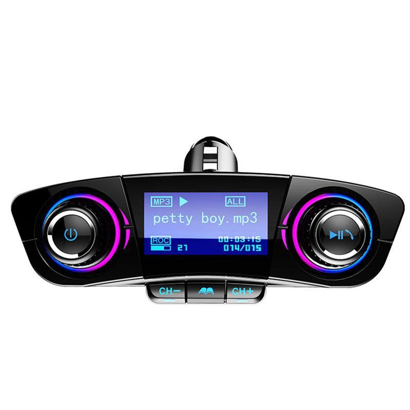 Image 2 - Автомобильный fm передатчик Aux модулятор Bluetooth Handsfree автомобильный комплект MP3 плеер автомобильный прикуриватель дисплей напряжения двойное зарядное устройство usb-in FM-трансмиттеры from Автомобили и мотоциклы