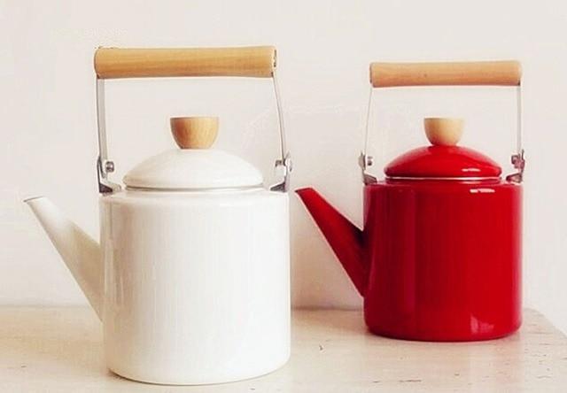 2.4L wasserkocher kaffee kochen werkzeuge keramik teekanne Emaille ...