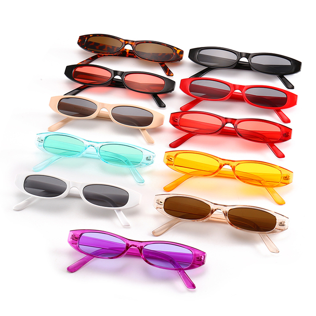 Sexy Retro Rectangle Sunglasses Women Brand Designer Small Black White Frame Vintage Fashion Sun glasses Lentes de sol feminino
