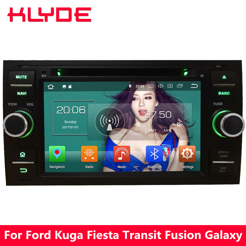 KLYDE 7 4g Octa Core PX5 Android 8.0 4 gb RAM 32 gb ROM Voiture DVD Lecteur Multimédia radio Pour Ford Kuga Fiesta Transit Point Fusion