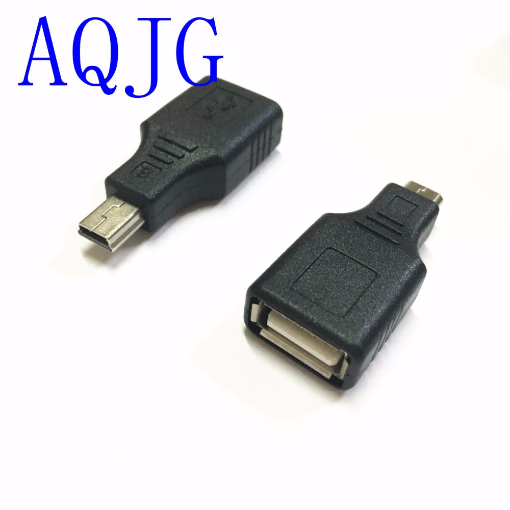 Mini USB USB 2.0 A Female To Micro / Mini USB B 5 Pin Male Plug OTG Host Adapter Converter Connector up to 480Mbps Black AQJG reliable convenient usb 3 0 type a female to female plug adapter extension connector coupler