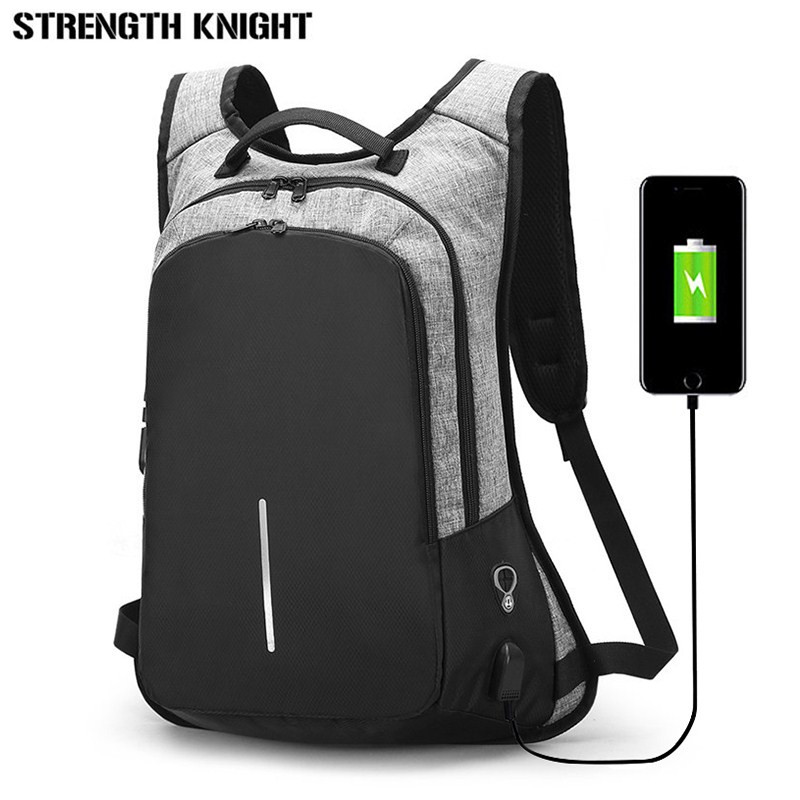 32075d8c25c3 US $17.58 51% OFF|Aliexpress.com : Buy Multifunction Male USB Business Anti  theft Backpack For Men 15.6inch Laptop Backpack Mochila Fashion Travel ...