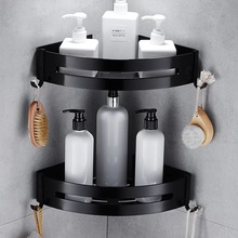 เล็บฟรีอลูมิเนียมสีดำห้องน้ำชั้นวางเครื่องสำอางชั้นวาง SINGLE LEVER Bath มุมตะกร้าห้องน้ำชั้นวาง C