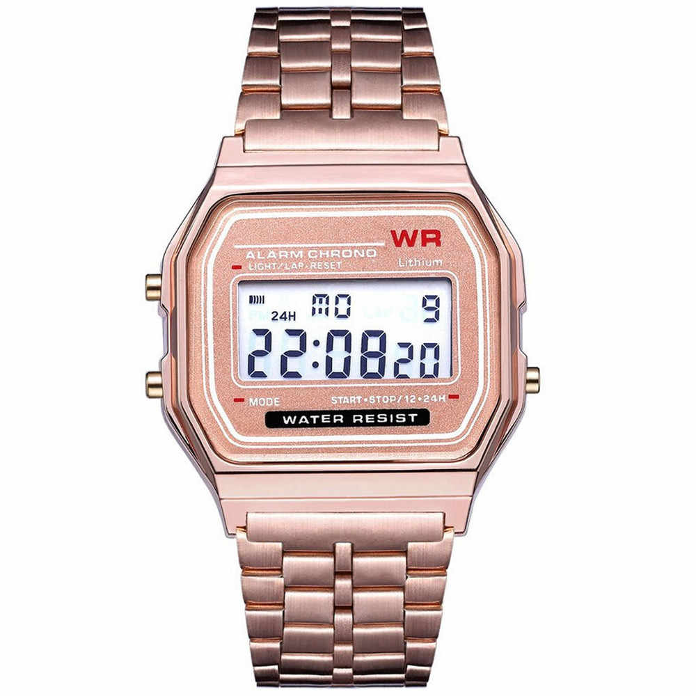 2019 LED Digital Waterproof Quartz Wristwatch Dress Golden Wrist Watch Women Men montre reloj relogio Military clock Sport Watch