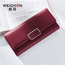 WEICHEN Fashion Long Women Wallet High Quality PU Female Leather Purse For Girls Photo Holder Credit Card Solid Standard Wallets