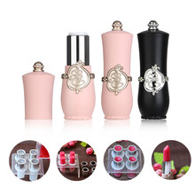 1 2pc Black Pink Palace Style Empty Lipstick Diy Lip Balm Stick Refillable Bottle Container Makeup Tools Accessories