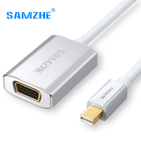 SAMZHE Mini DP To VGA Adapter Cable Thunderbolt Mini DP Port Cable To Projector VGA Port