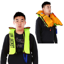 Manual Inflatable Life Jacket Adult Vest Water Sports Swiming Fishing Survival