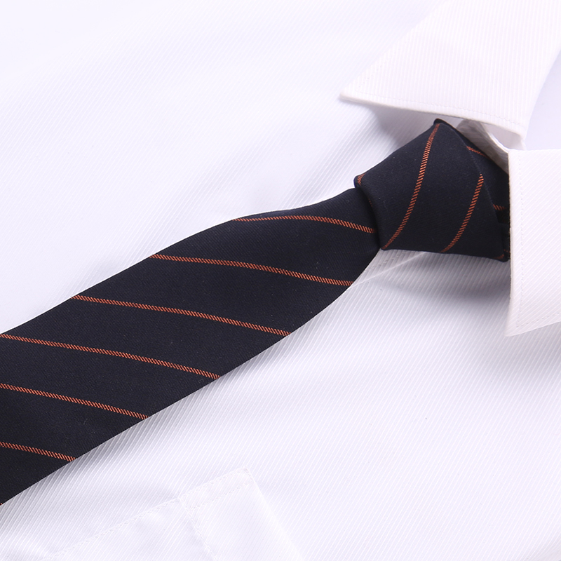 cotton fabric slim ties striped necktie feature tie accessories for men Blue 2018 Fashion Brand 6 cm narrow T01