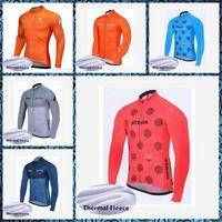 2019 STRAVA Men Winter thermal fleece Cycling Jersey Bike Clothing Long Sleeve free delivery U42515