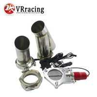 3 Size Stainless Steel Headers Electric Exhaust CutOut Kit With Remote Control 3