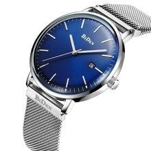 купить New Fashion 2019 Mens Watches Stainless Steel Mesh Strap Minimalist Quartz Watch Calendar Sport Men Military Simple Wristwatch по цене 7190.49 рублей