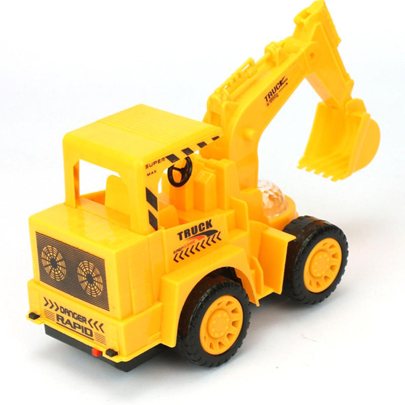 New Simulation Electric Excavator Tractor Vehicle Digging Truck Toy Excavating Machinery Cognitive Toy Musical Model