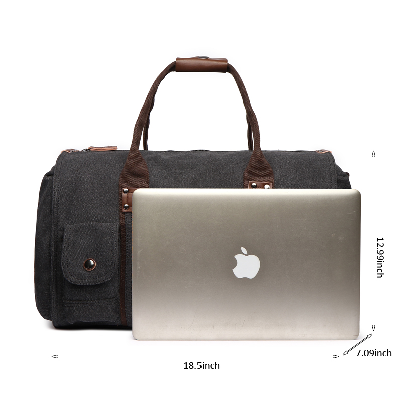Image 2 - Travel Bag Large Capacity Men Hand Luggage Travel Duffle Bags Canvas Weekend Bags Business Trip Multifunctional Travel Bags-in Travel Bags from Luggage & Bags