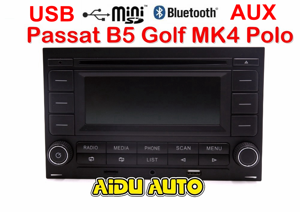 For Passat B5 Golf MK4 Jetta MK4 Polo RCN210 Bluetooth MP3 USB Player CD MP3 Radio