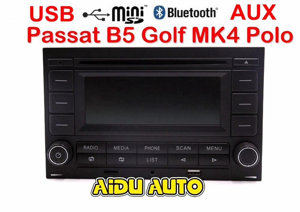 AIDUAUTO RCN210 Bluetooth MP3 USB Player CD MP3 Radio For Passat B5 Golf MK4 Jetta MK4 Polo car lights for vw passat b5 polo touran golf mk4 skoda octavia dome reading light 1td947105 beige or gray color lamp