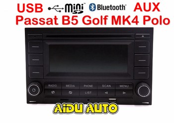 цена на For VW Golf MK4 Jetta MK4 Polo Passat B5 RCN210 USB CD bluetooth USB Player Radio