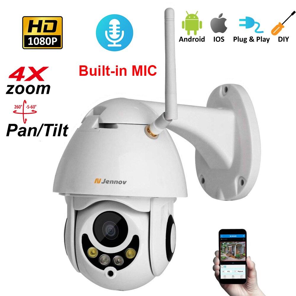 1080 p 2MP IP PTZ cámara de seguridad inalámbrica Wifi 4X Zoom 2,8mm-12mm cámara de Audio HD visión al aire libre ipCam de Video vigilancia