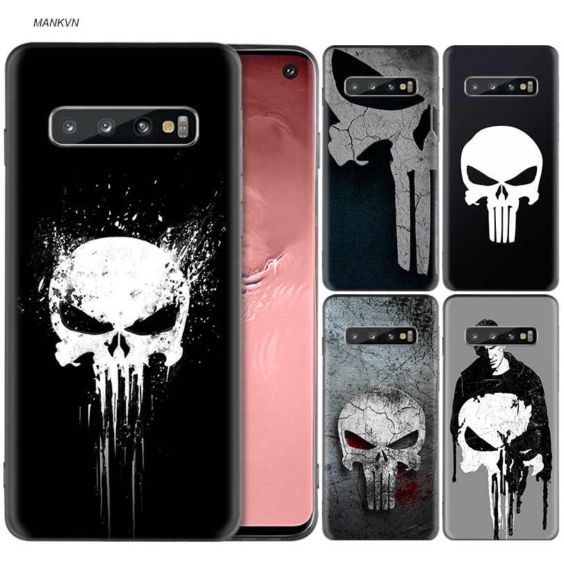 Marvel Punisher Silikon Fall Für Samsung Galaxy S8 S9 S10 Plus S10e A50 A30 M30 A40 A20 A10 M20 M10 s7 Rand Abdeckung