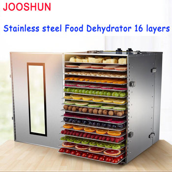 16 Layer Commercial Dehydrator Air Dried Fruit Machine Stainless Steel Fruits and Vegetables Dehydration Food Dryer Machine 220V Мельница