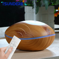 TSUNDERE L Aromatherapy Oil Diffuser 200ml Wooden Remote Control Touch Dual Humidifier For Home Yoga Baby