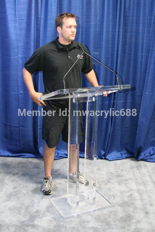 Free Shipping price Reasonable Transparent Cheap Acrylic Lectern podium Reception Desks     - title=