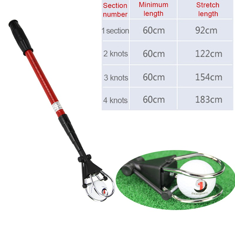 New Retractable Golf Ball Retriever Scoop Telescopic Pick Up Grabber Shaft Tool Golf Training Aids