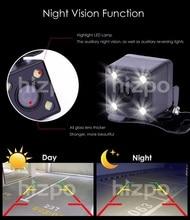SPEDIZIONE GRATUITA CMOS Car Rear View di Sostegno D'inversione di retrovisione macchina fotografica di Parcheggio di Visione Notturna Impermeabile 7 LED con sei metro fili