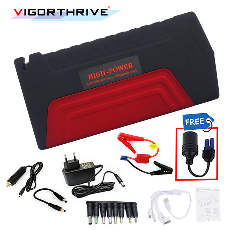 12v 600A Peak Portable Car Jump Starter Auto Battery Booster Power Bank For Petrol car Mini Emergency Starting Device image