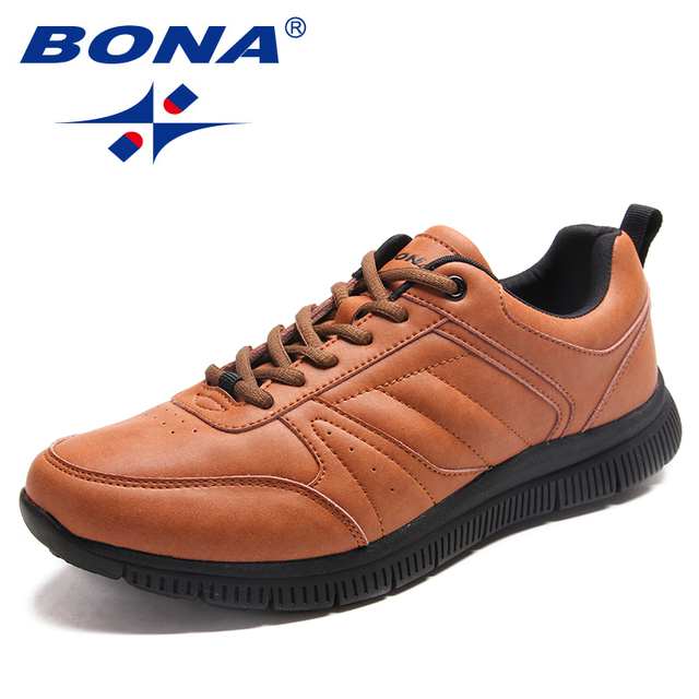 BONA New Arrival Popular Style Men Casual Shoes Lace Up Men Flats Microfiber Men Shoes Comfortable Light Soft Fast Free Shipping 1