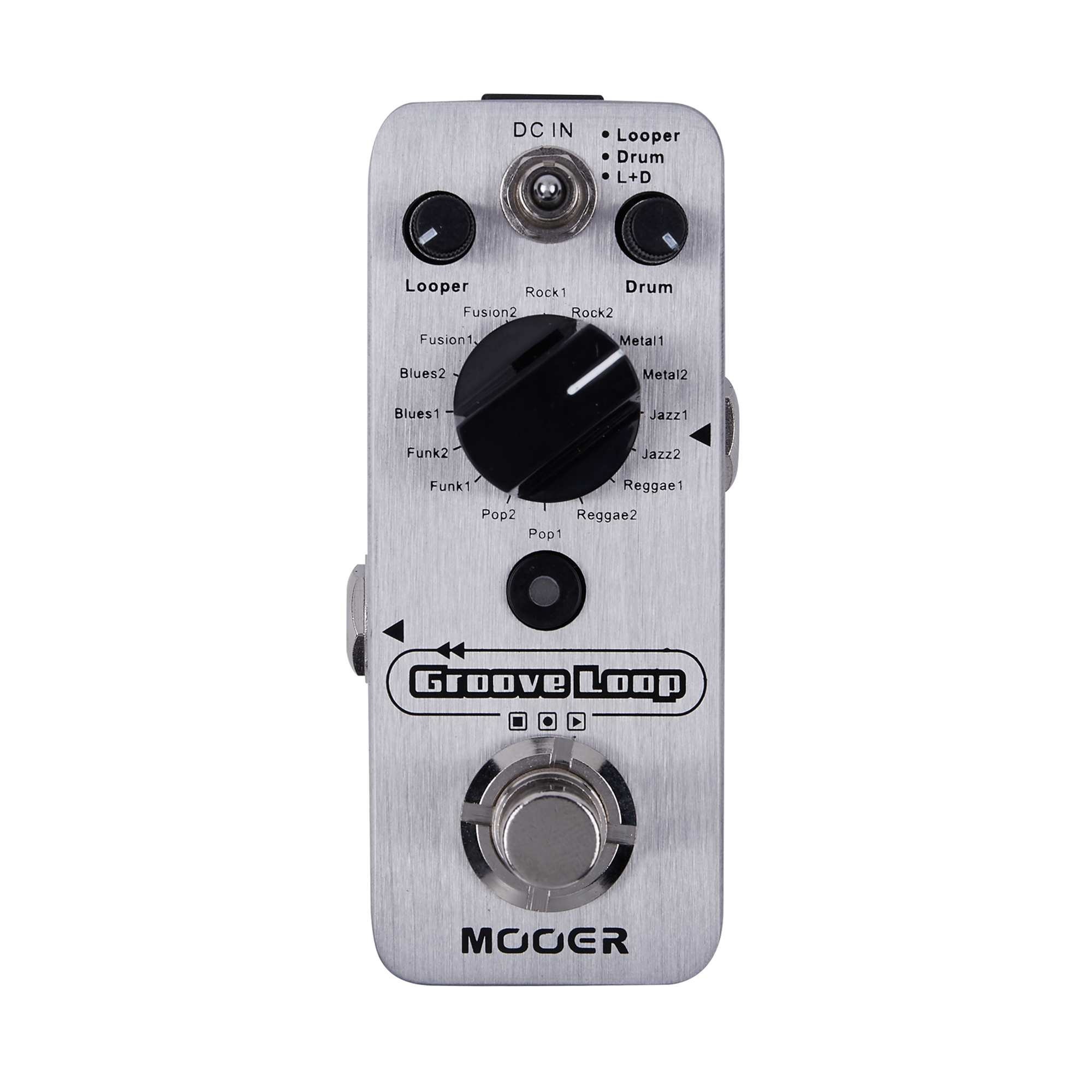 Mooer Groove Loop Drum Machine Tap Tempo Control Acoustic Electric Bass Guitar Guitar Effects Pedal