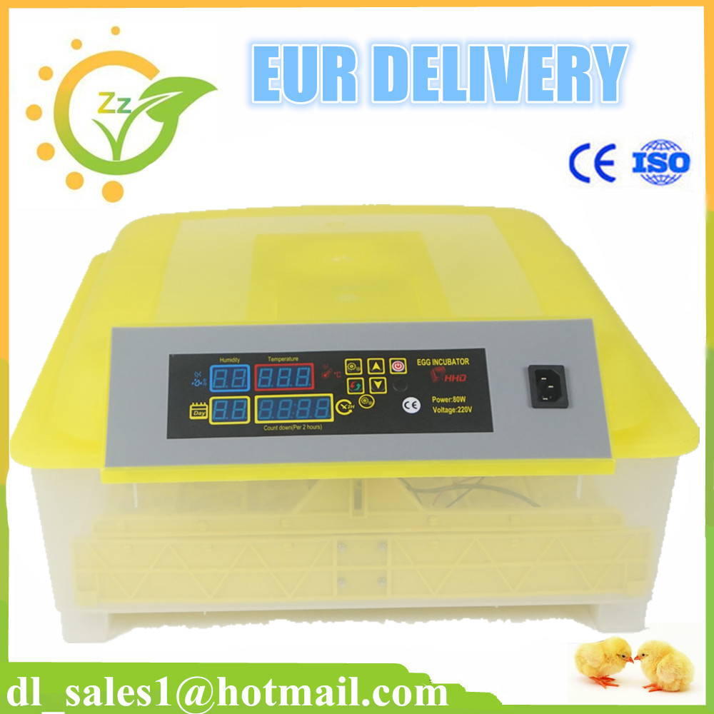 New Digital Fully Automatic Egg Incubator Turner 48 Eggs Poultry incubator machine Chicken Duck Bird Hatcher Goose Fast Shipping new design digital temperature incubator pet supply duck hatcher household chicken egg incubator