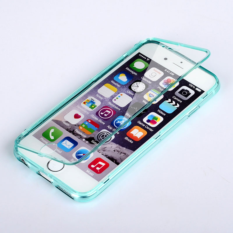 2b1ff5020b9 Carcasa For iPhone 6 Plus Case Touch Screen Silicone Tpu Material Flip  Protection Cover Coque For iPhone 6S Plus Phone Bag Cases