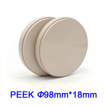 New Materials Dental PEEK Block 98mm Open CADCAM System 18mm Natural and Pink Color