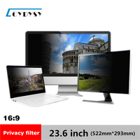 23 6 Inch Anti Spy Privacy Protective LCD Screen Filter For 16 9 Widescreen Computer PC
