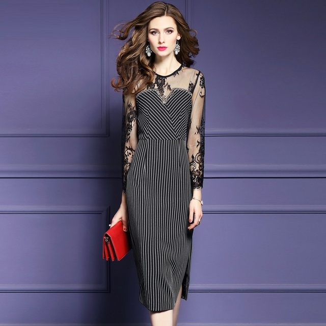 Office Work Dress 2018 New Superior Quality Spring Summer Fashion