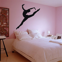 Sport Wall Decal Dance Ballerina Girl Vinyl DIY Home Art Decor Full Of Spirit Gymnast Girl Interior Nymph Wall Sticker